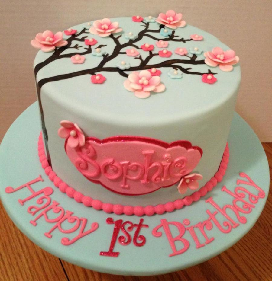 Cherry Blossoms Birthday On Cake Central