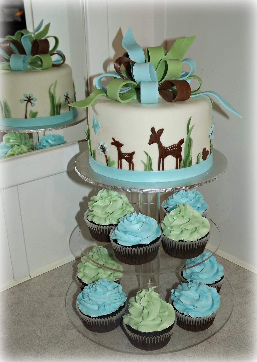 Woodland Deer Baby Shower Cakecentral Com