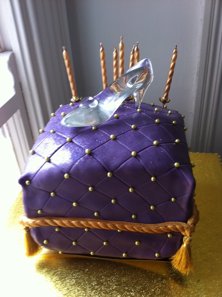 Cinderella's Glass Slipper Pillow Cake on Cake Central