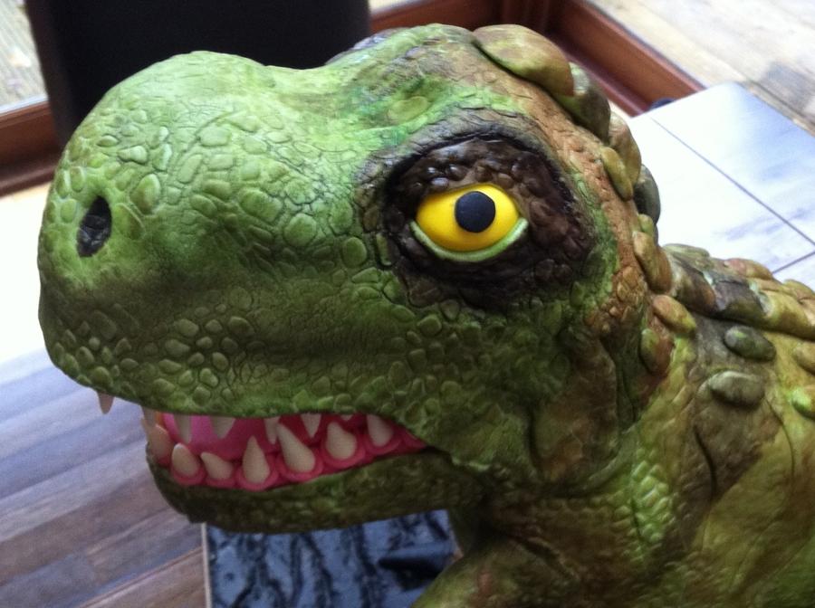 Standing T Rex Dinosaur Cake Cakecentral Com