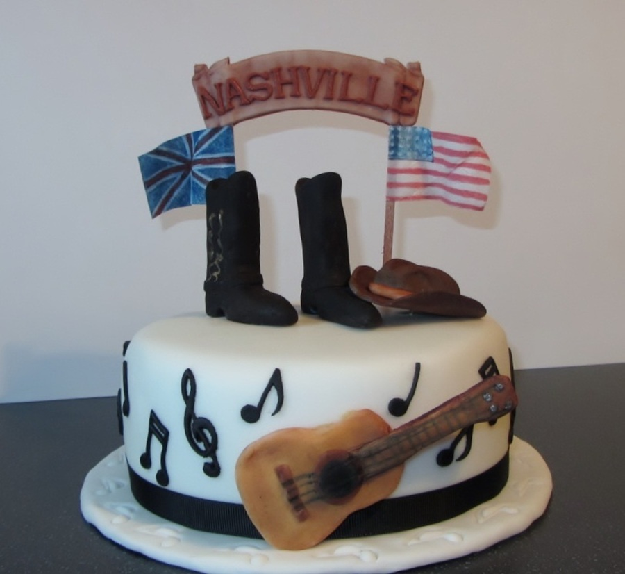 Country Music Themed Birthday Cake On Central
