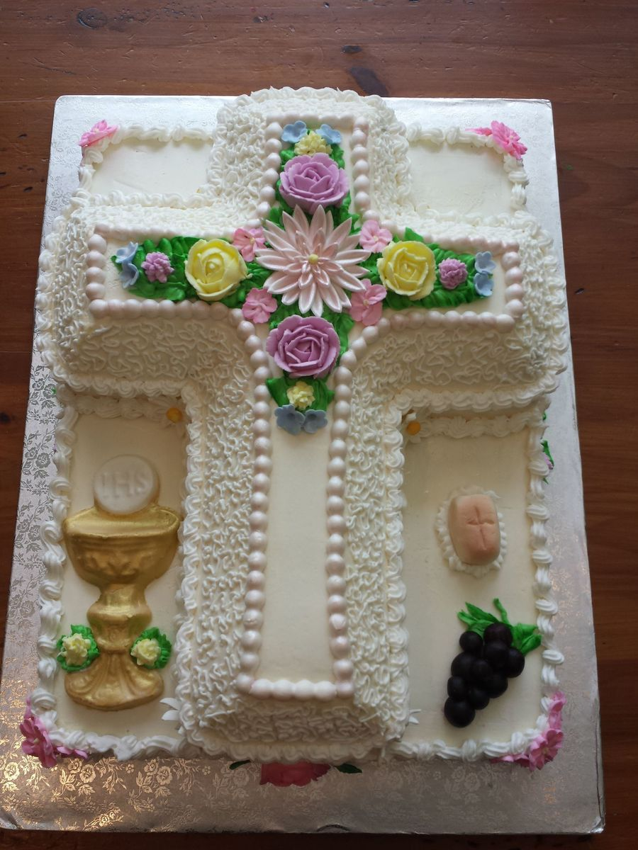 First Communion For A Girl Cakecentral Com