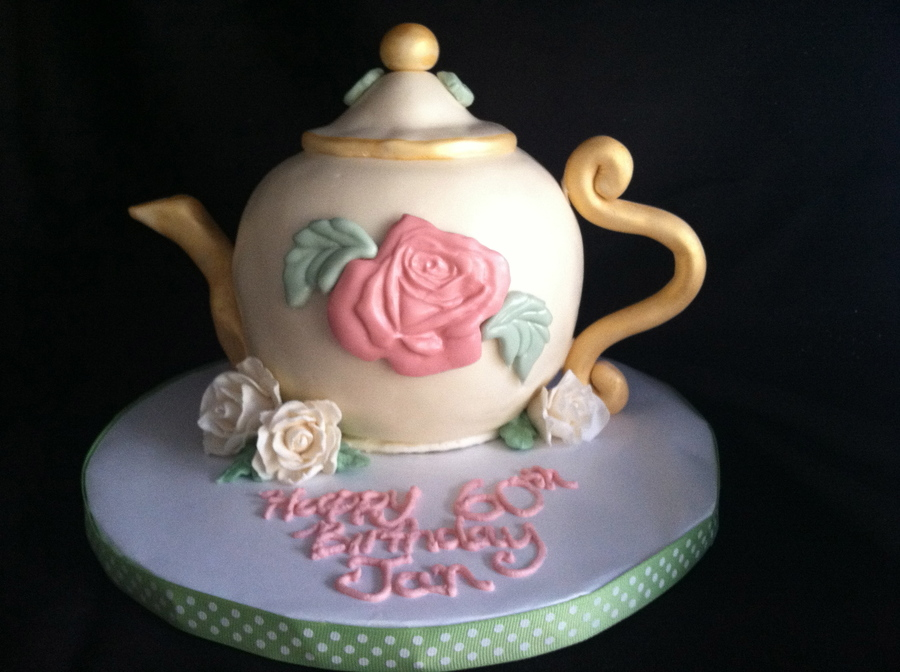 Awesome Teapot Birthday Cake Cakecentral Com Personalised Birthday Cards Cominlily Jamesorg