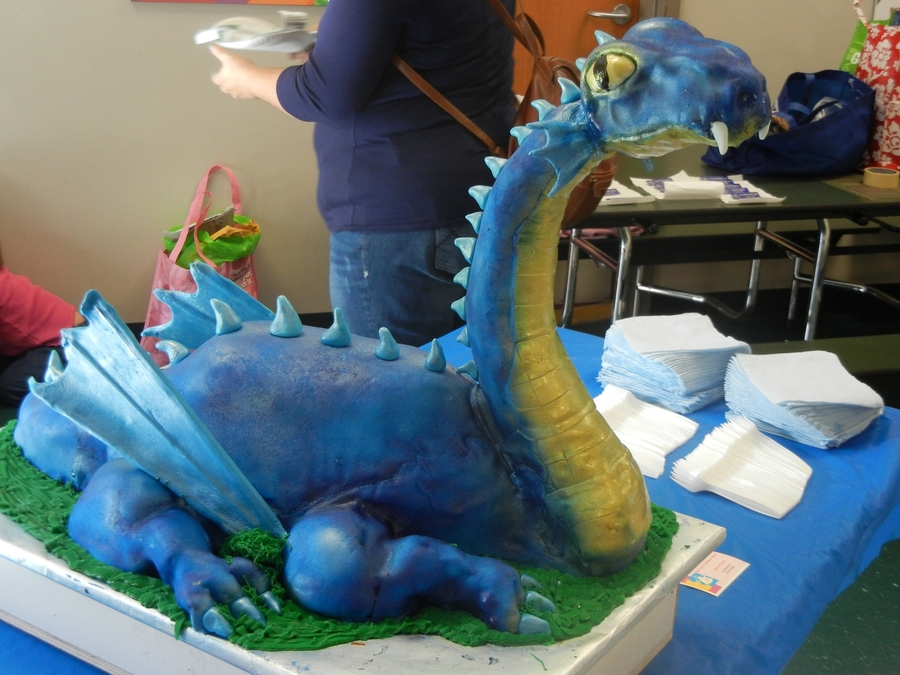 Blue And Gold Dragon Cubscouts Cakecentral Com