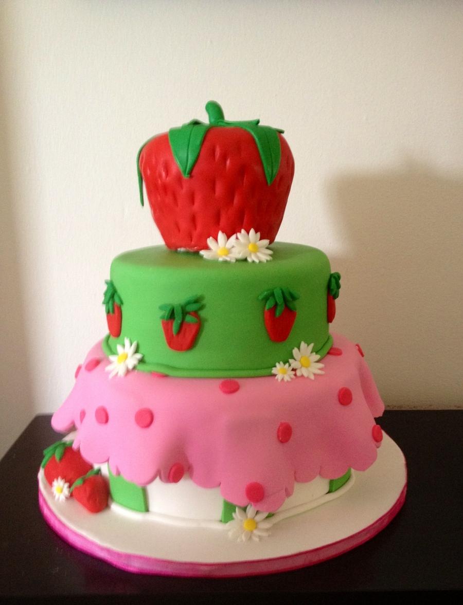 Strawberry Shortcake Birthday Cake Topper