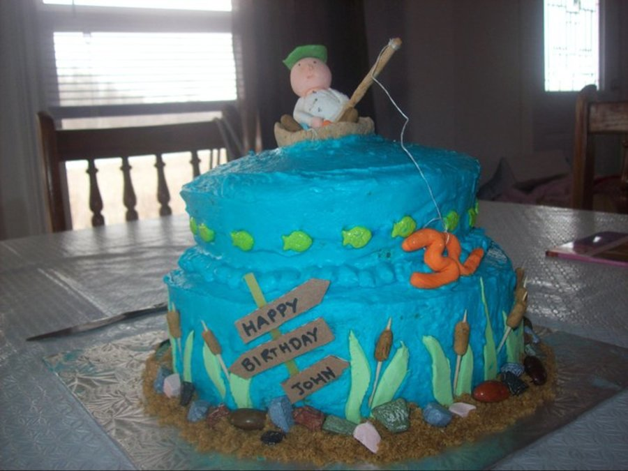 Fisherman's Birthday Cake on Cake Central