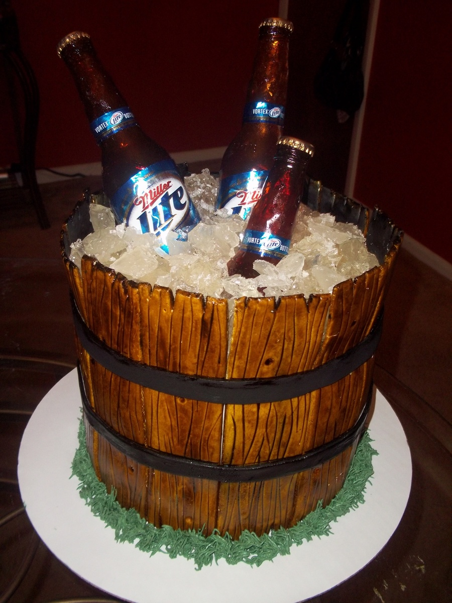 Beer Ice Bucket Cake