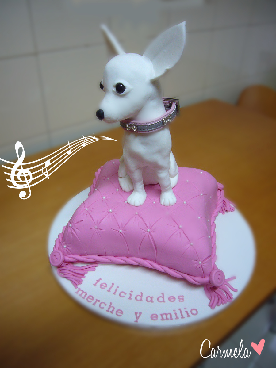 Chihuahua Dog On A Musical Pillow Cake Cakecentral Com