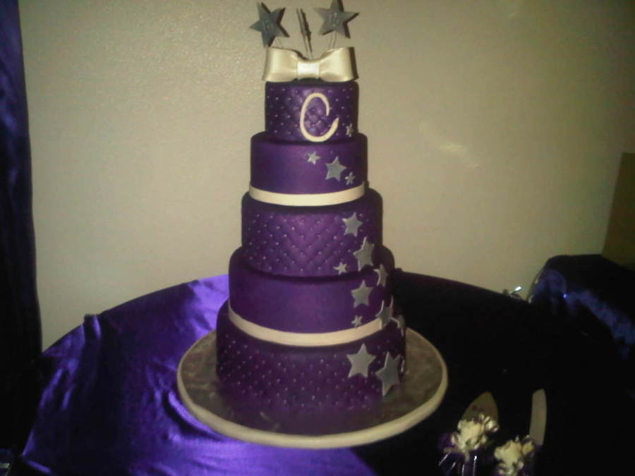 Purple With Pearls on Cake Central