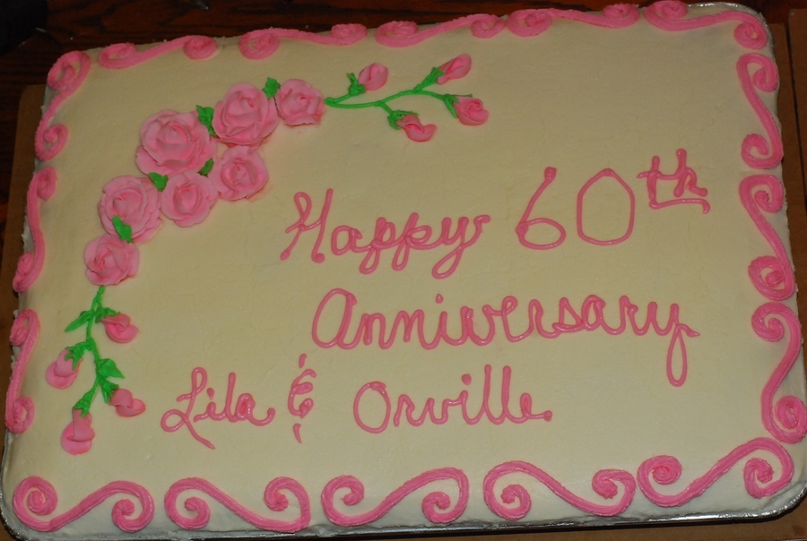 60Th Anniversary Cake on Cake Central