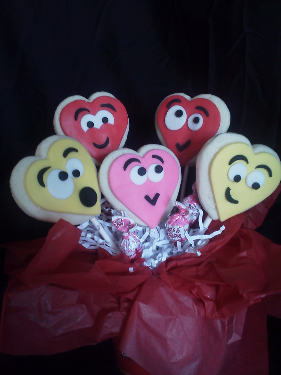 Valentines Day Cookie Bouquet on Cake Central
