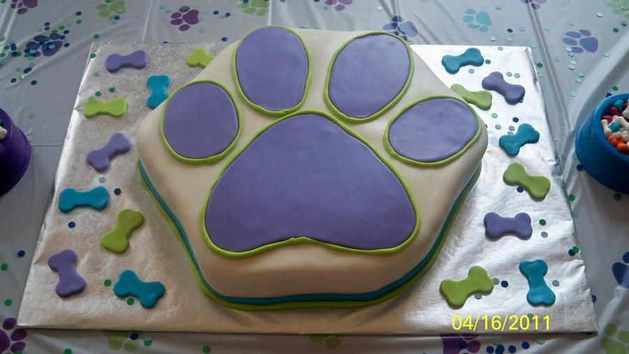 Dog Paw Print Cake CakeCentralcom