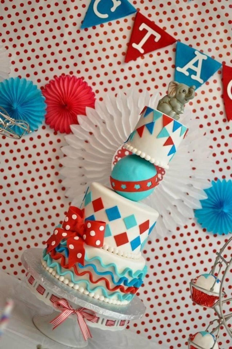 Vintage Carnival Themed Cake