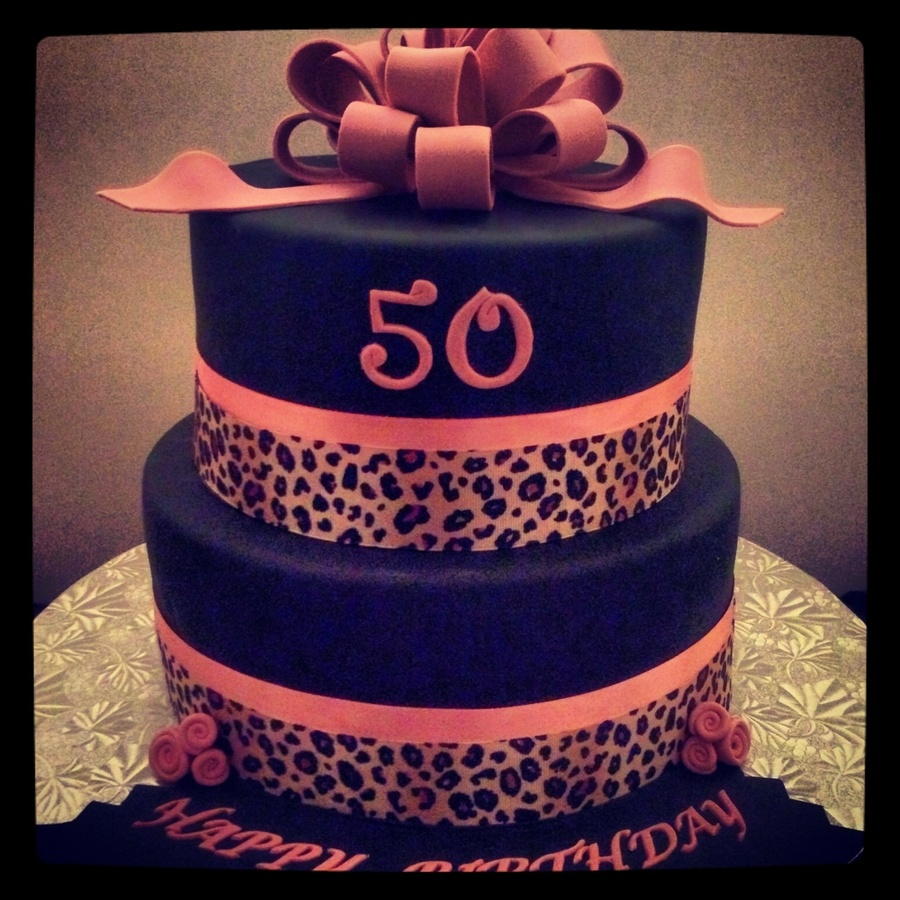 Pink Animal Print Birthday Cake  on Cake Central