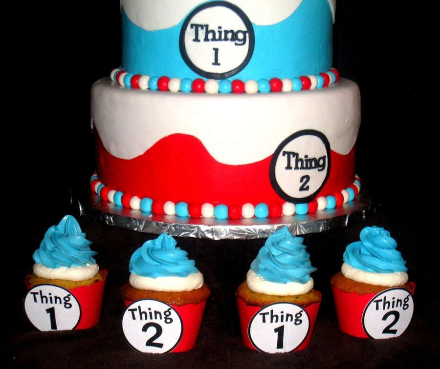 Thing 1 Thing 2 Birthday Cake For Twins Cakecentral