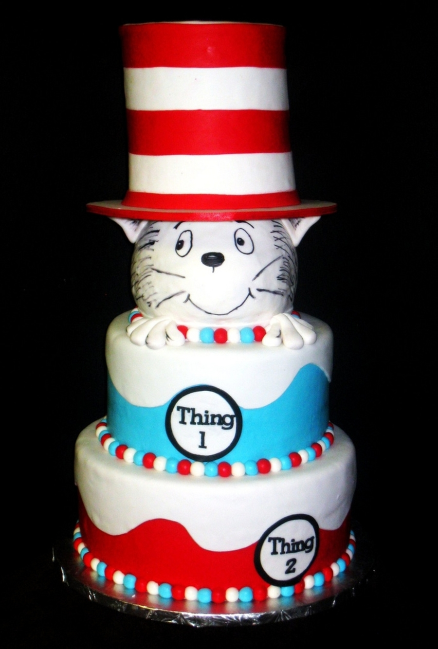 Dr Seuss Theme Baby Shower Cake