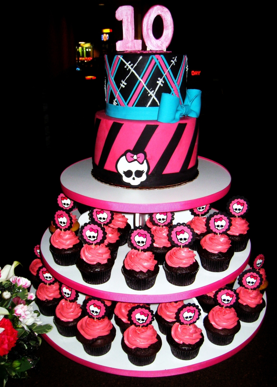 Monster High Cake Cupcakes CakeCentralcom