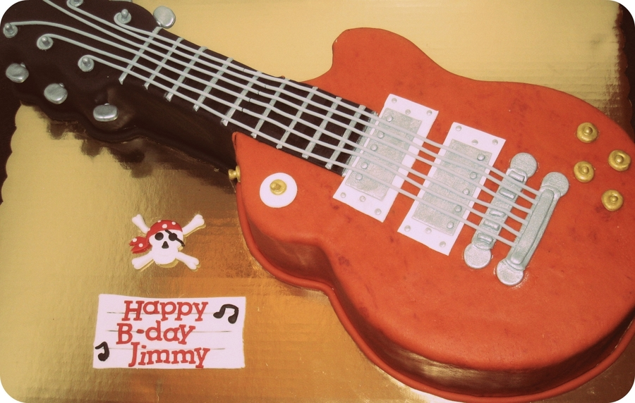 Les Paul Electric Guitar Birthday Cake on Cake Central