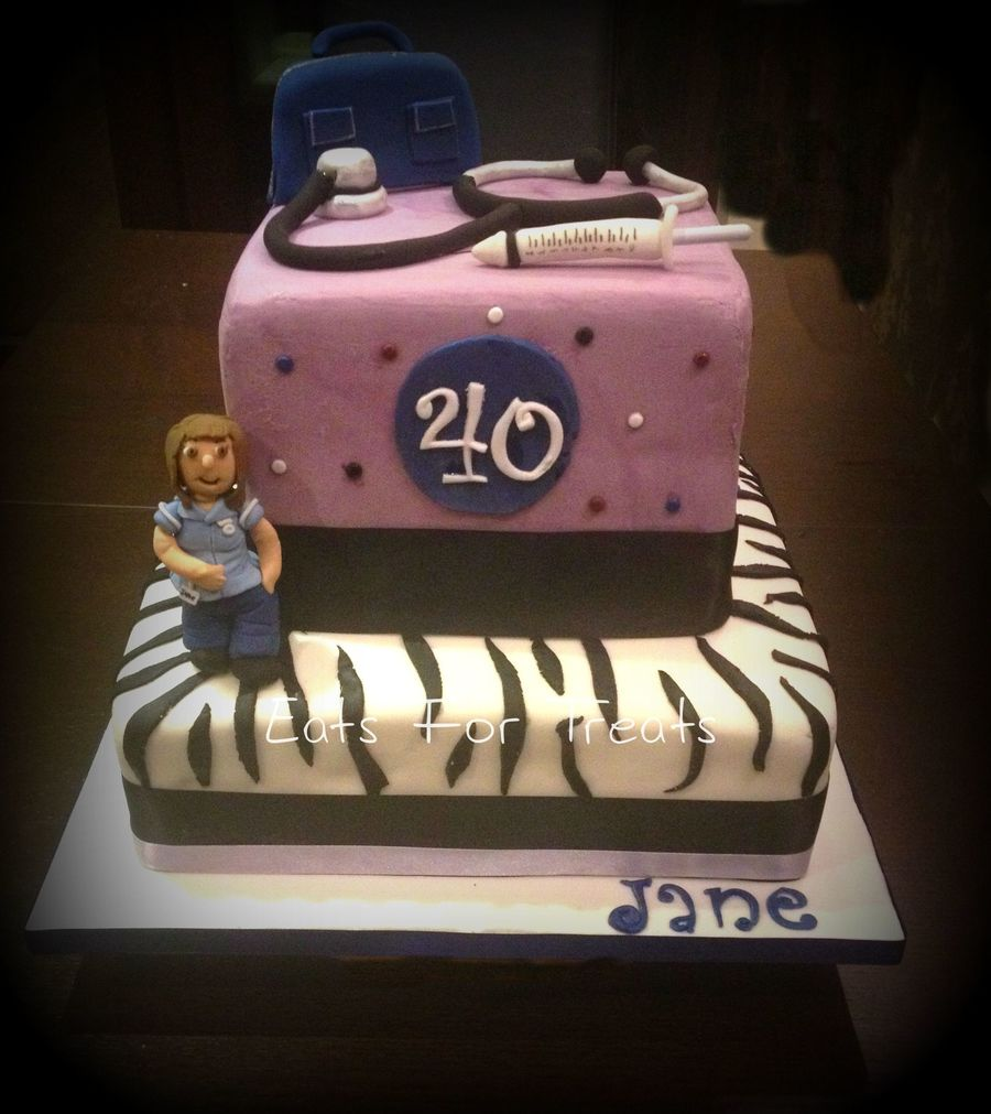 Nurse Themed 40th Birthday Cake Cakecentral