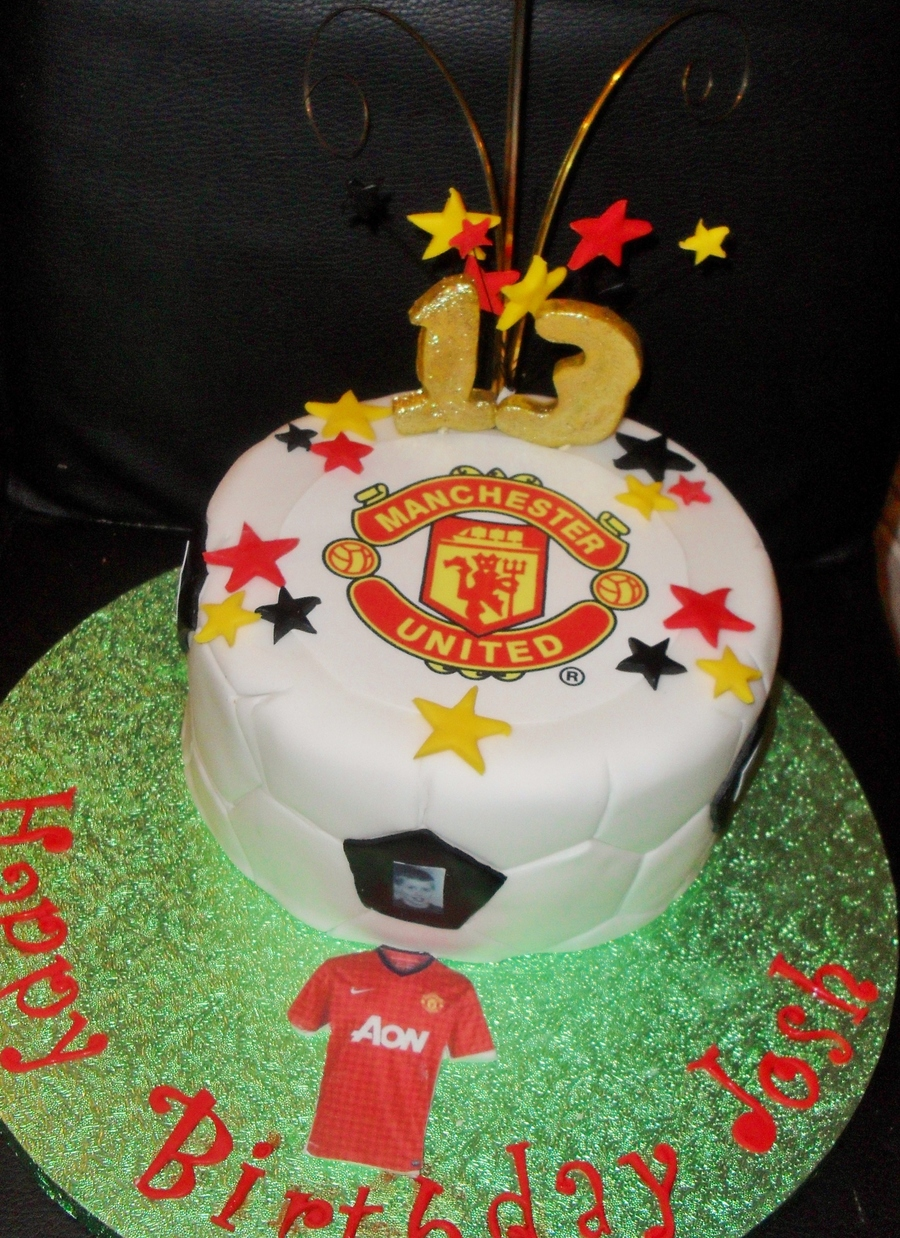 Manchester United Soccer Cake on Cake Central