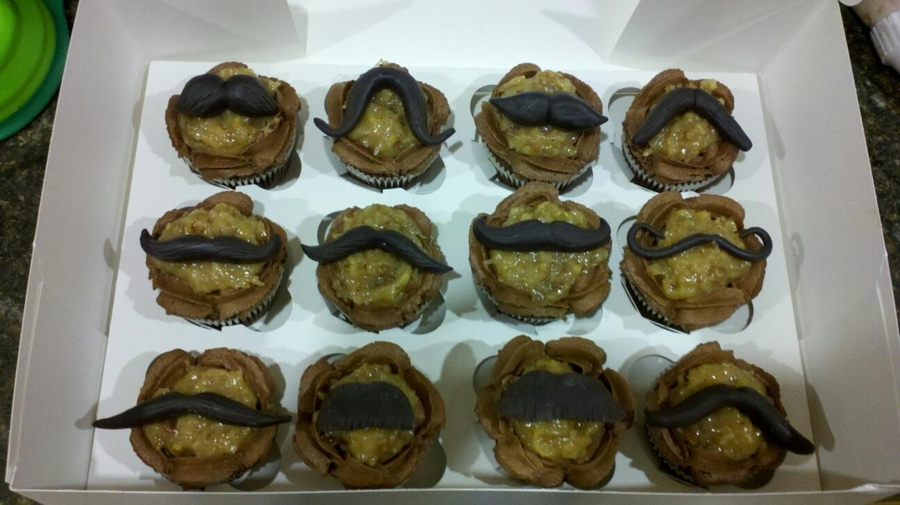 Mustached German Chocolate on Cake Central