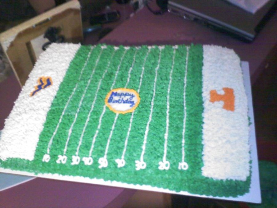 Tennessee West Virginia Football on Cake Central