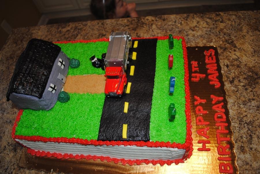 Outstanding Garbage Truck Cake Cakecentral Com Personalised Birthday Cards Veneteletsinfo