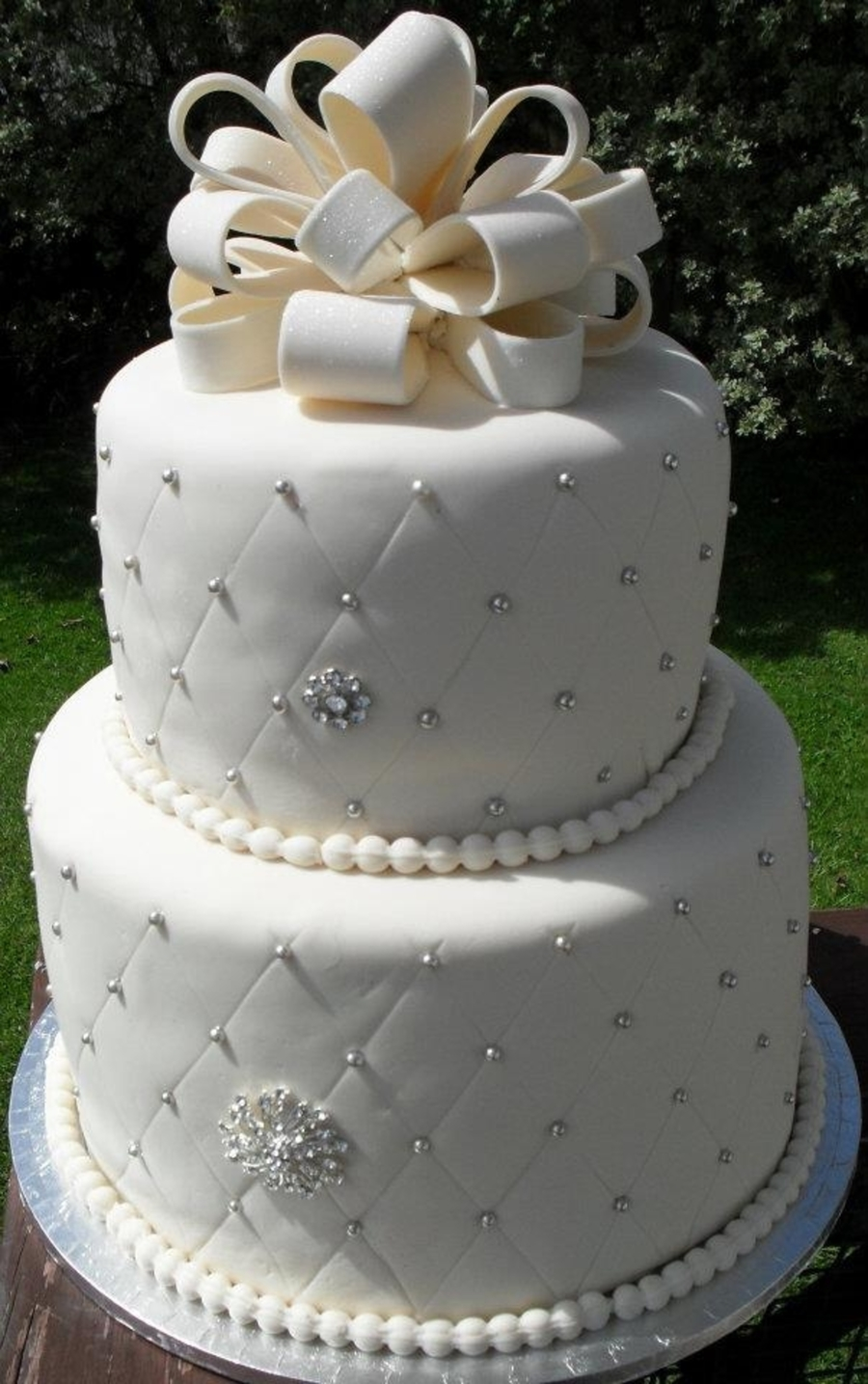 Tier Strawberry Wedding Cake