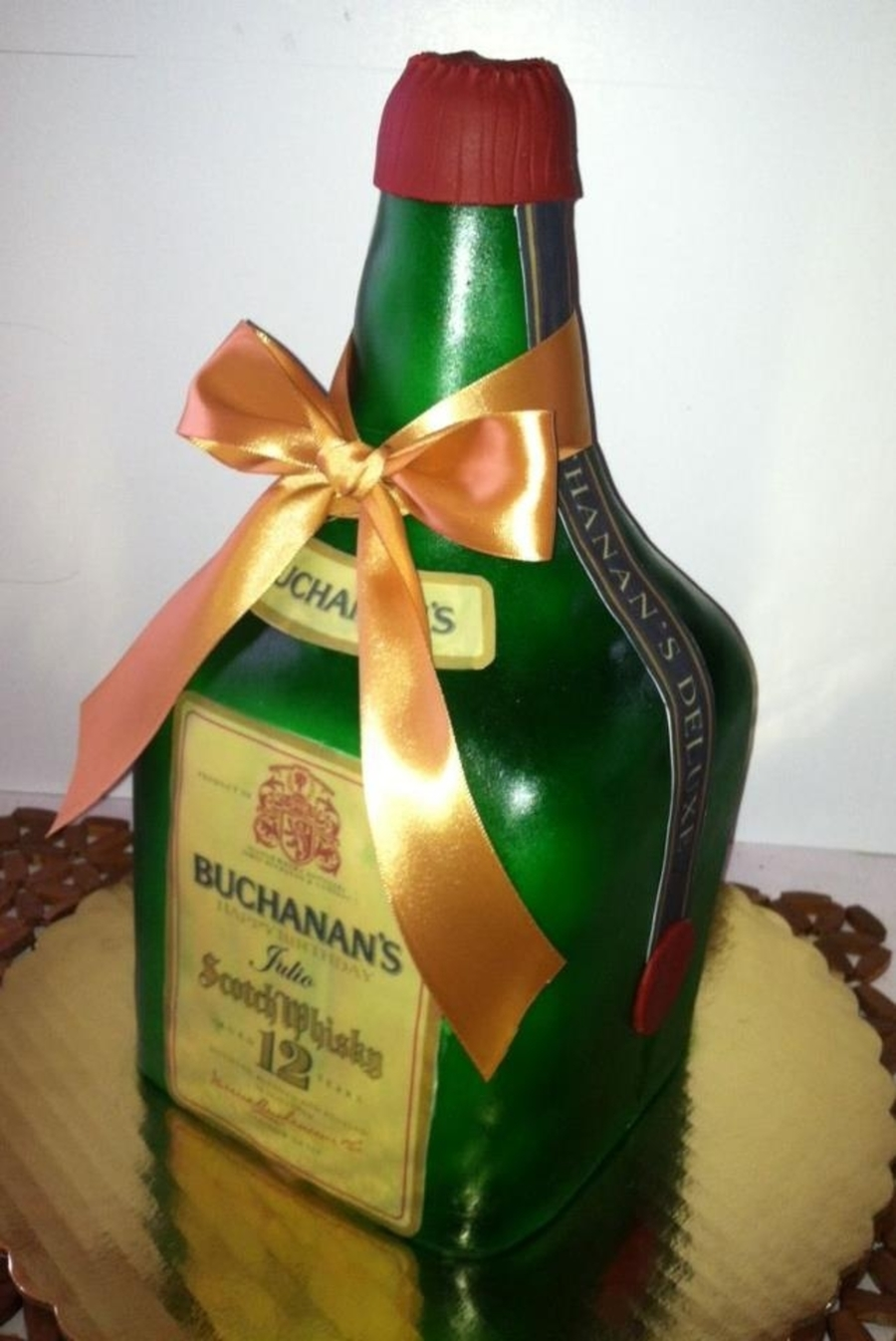 Buchanan's Bottle on Cake Central