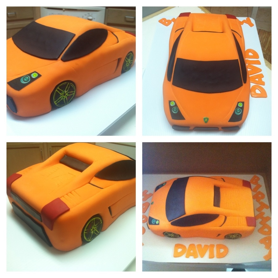 Car Cake Images Download : Lamborghini Car Cake - CakeCentral.com