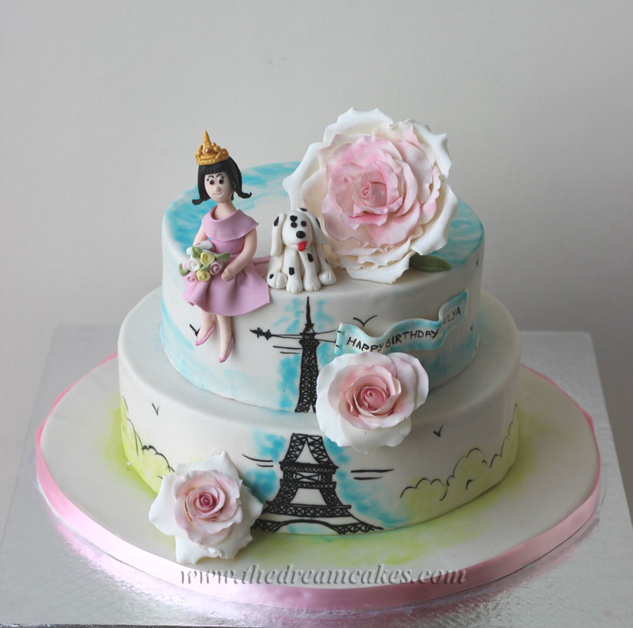 An Evening In Paris A Birthday Cake For A Sweet 16Th Birthday Of A