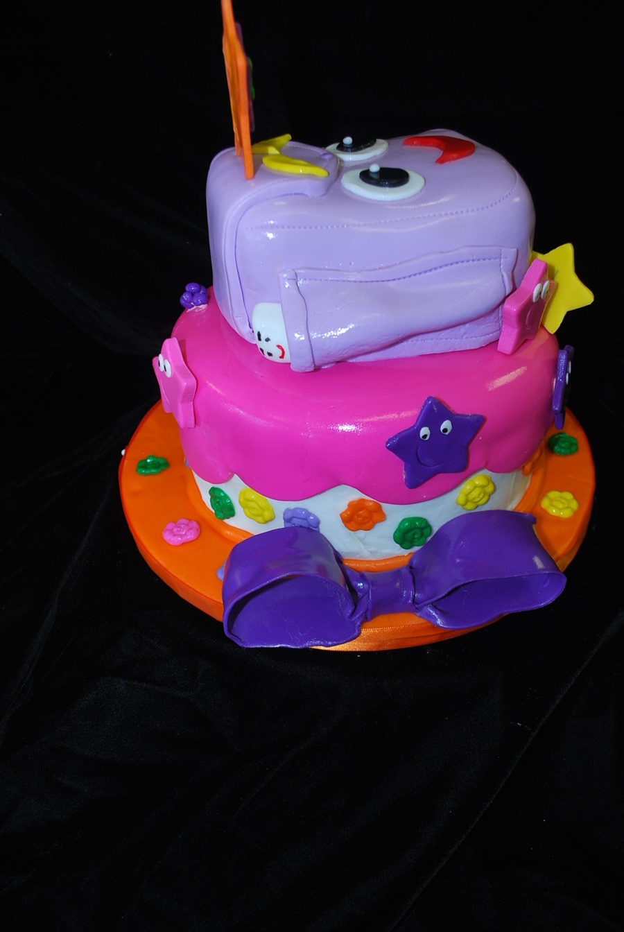Dora Backpack And Map on Cake Central