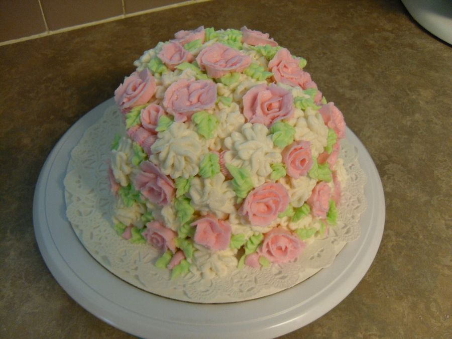 38 Sweet Flowers For 38Th Wedding Anniversary on Cake Central