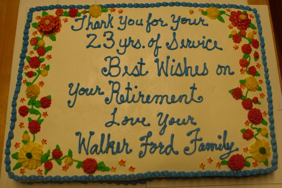 Happy Retirement  on Cake Central