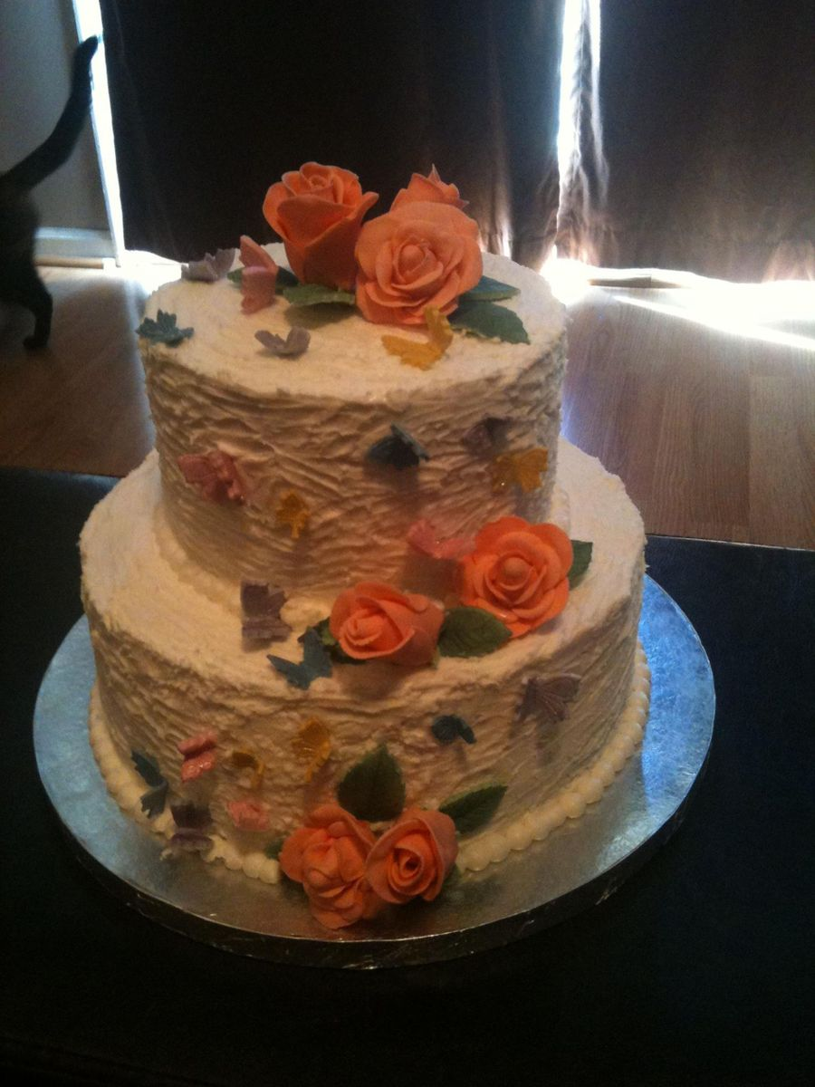 Butterfly Rose Birthday Cake CakeCentralcom