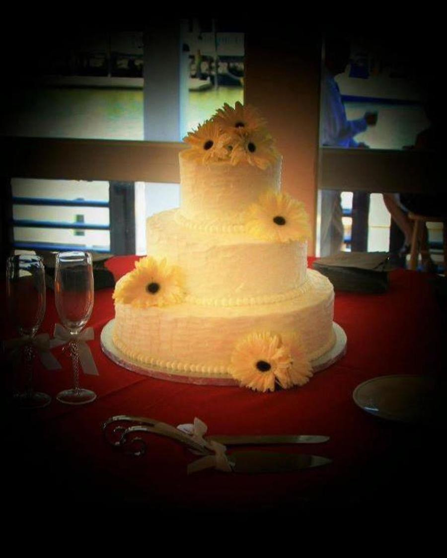Gerbera Daisy Wedding Cake on Cake Central