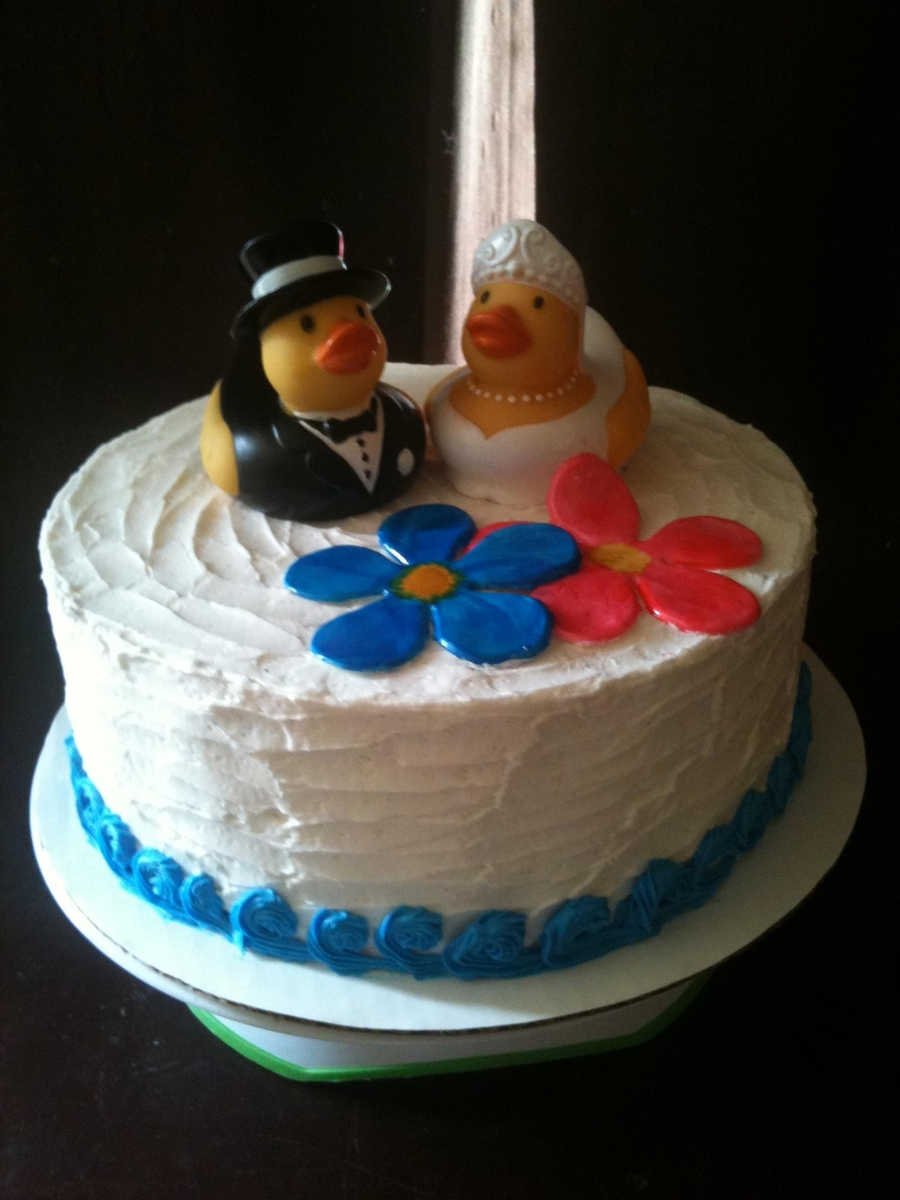 Ducky Bridal Shower Cake on Cake Central