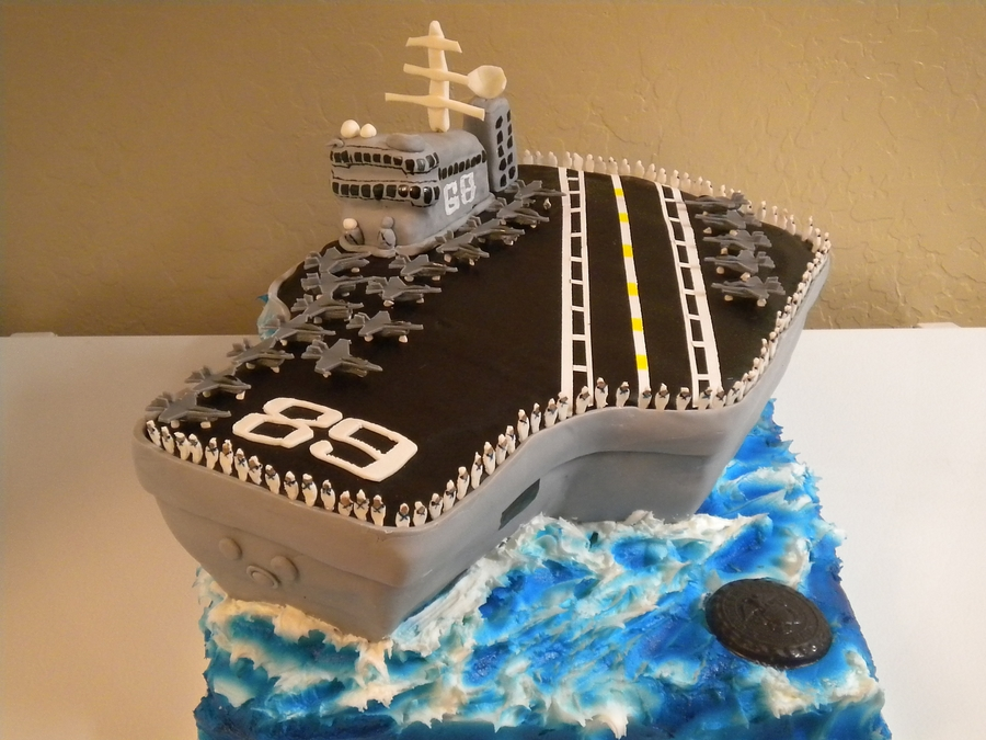 Aircraft Carrier Birthday Cake