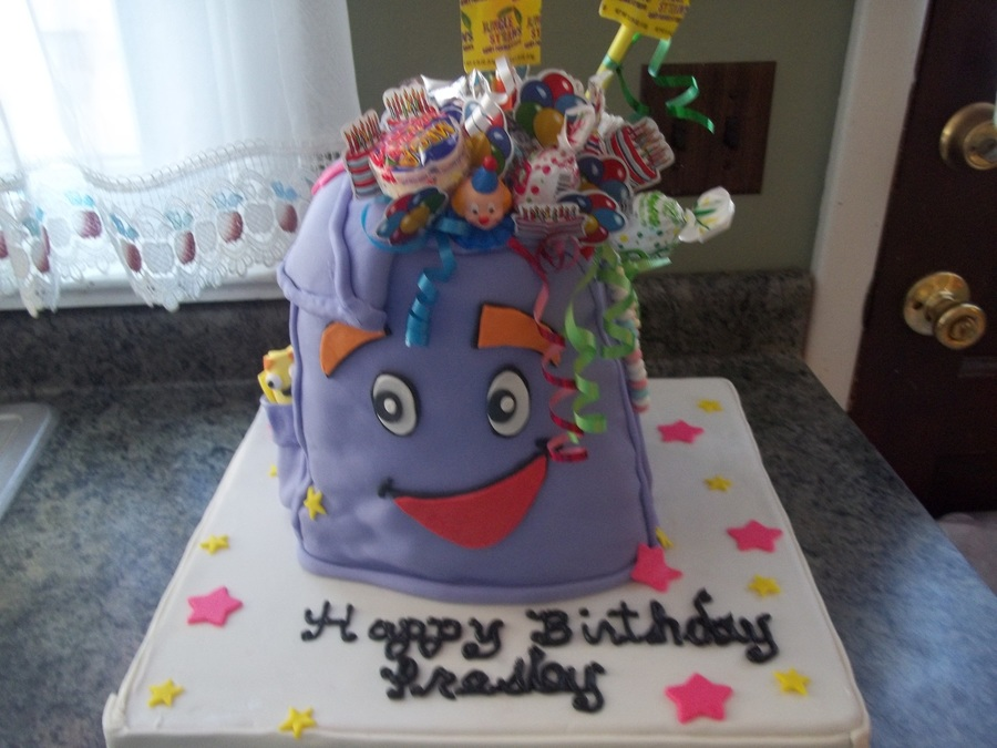 Dora's Backpack on Cake Central