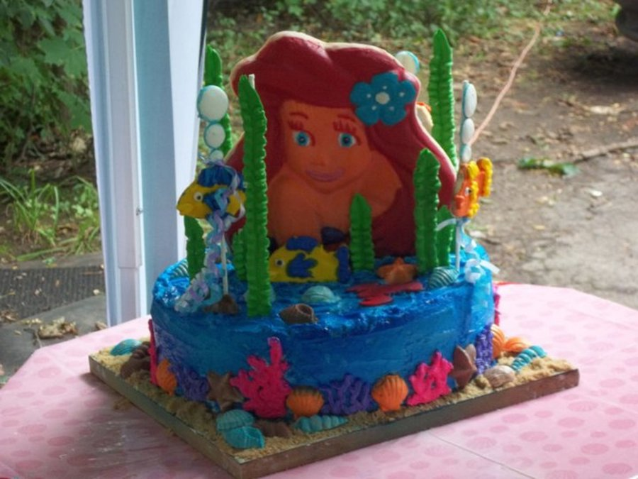 Litrtle Mermaid on Cake Central