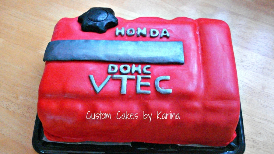 Honda Valve Cover Cake on Cake Central
