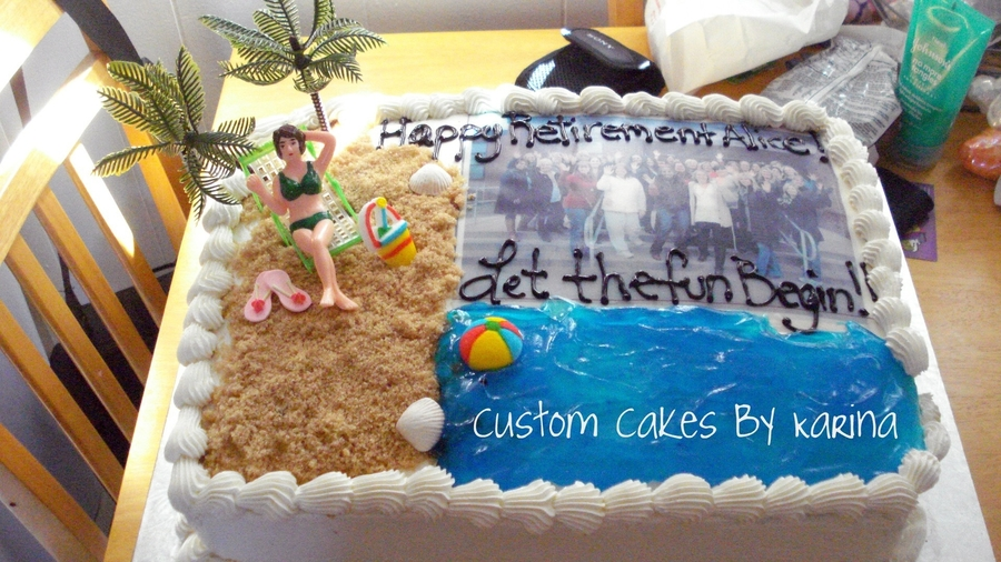 Lifes A Beach!!! on Cake Central