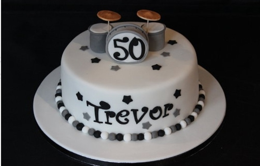 Fantastic 50Th Birthday Drum Kit Cake Cakecentral Com Funny Birthday Cards Online Bapapcheapnameinfo