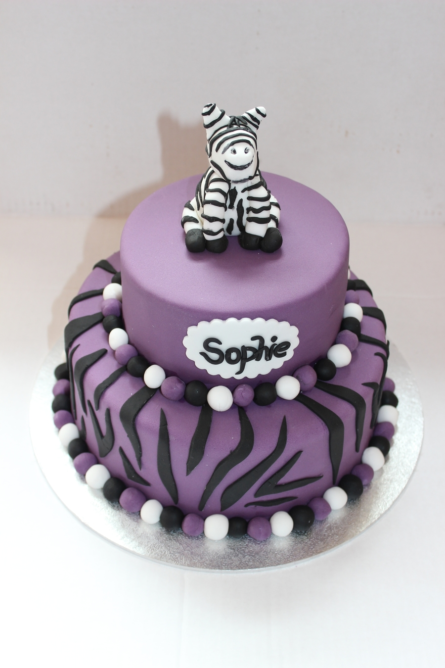 Zebra Stripe Cake on Cake Central