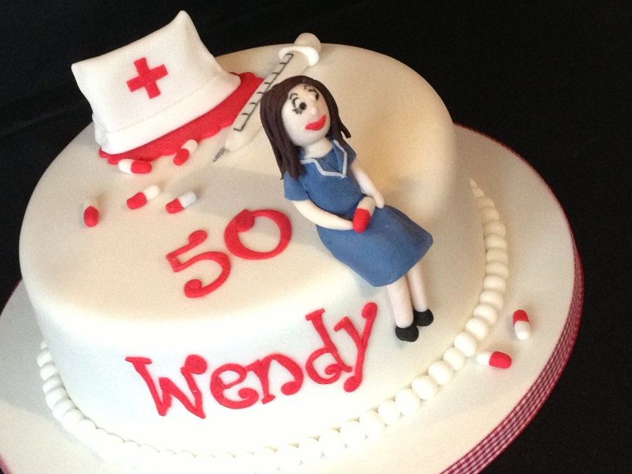 Nurse 50Th Birthday Cake CakeCentralcom