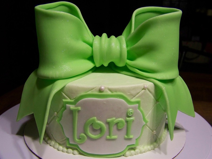 This Was A Just Because Cake I Made So I Could Try Out The Giant Bow From Torta Couture Cakes on Cake Central