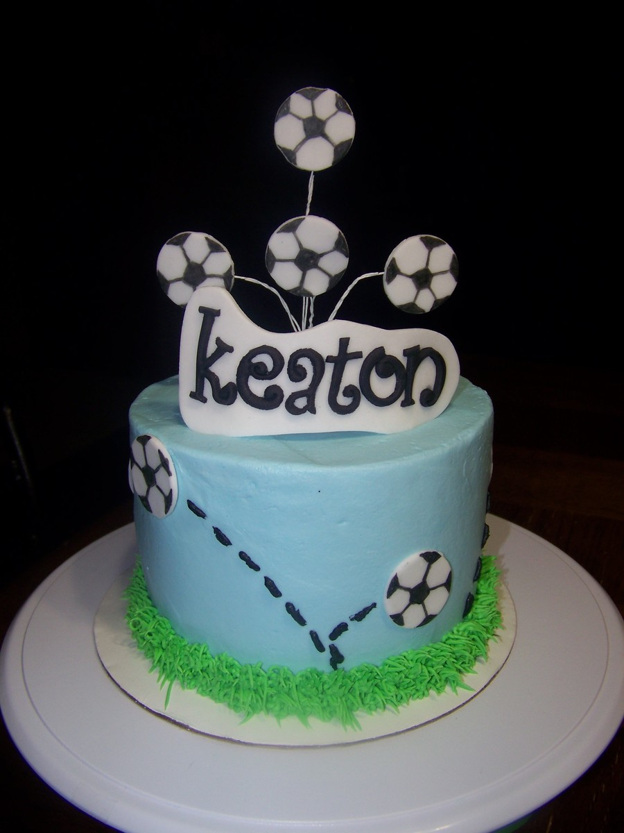 Marble Cake With Smbc Filling For A Soccer Playing Friend  on Cake Central