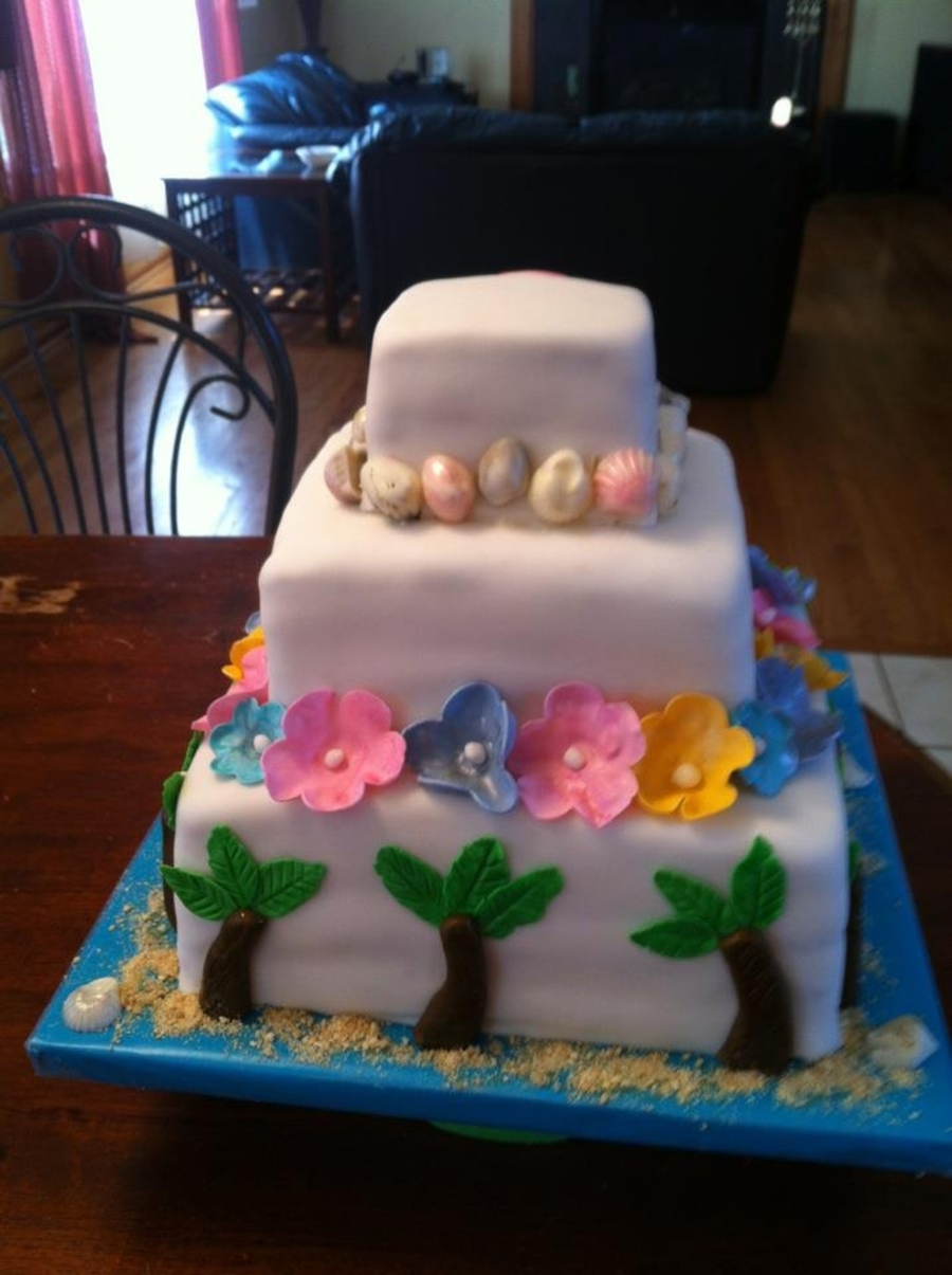Made This Cake For A 93rd Birthday Took The Pix Before Completing Name Plate