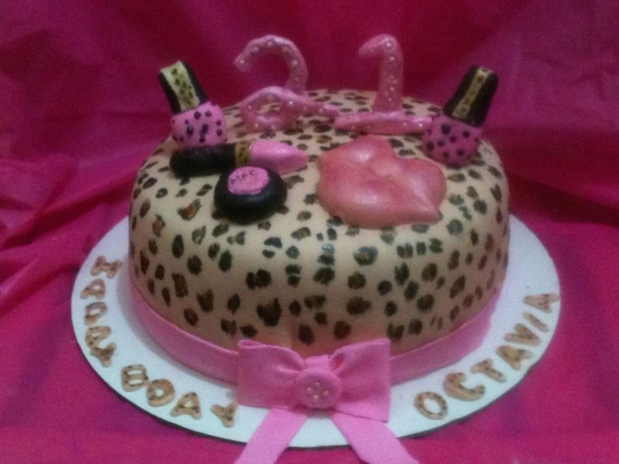 21St Leopard Print Cake on Cake Central