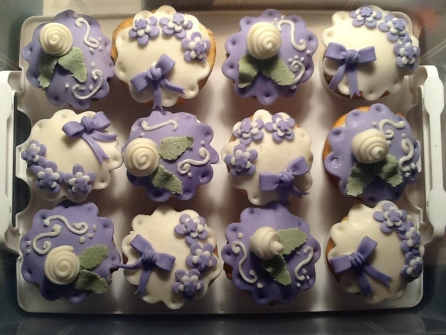 Lavender And White Cupcakes on Cake Central